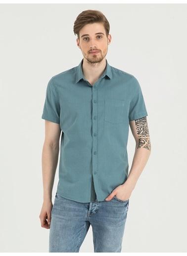 Loft Kısa Kollu Gömlek Mavi